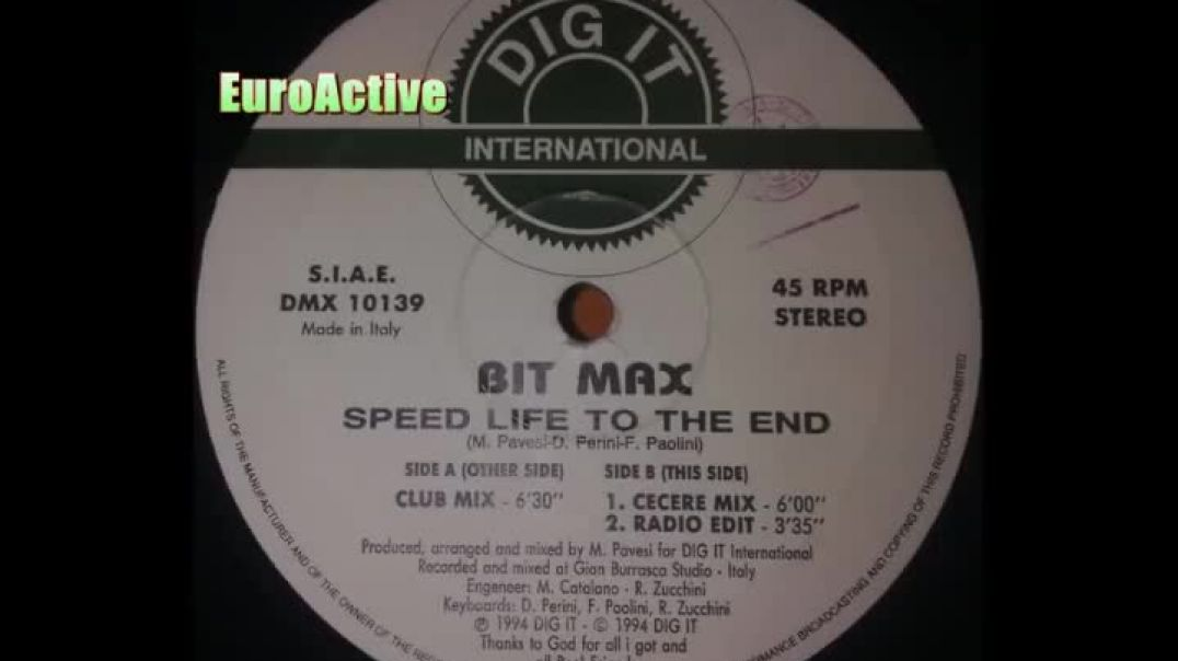 Bit Max - Speed Life To The End (Club Mix)