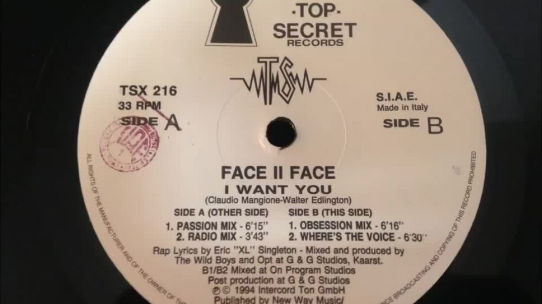 Face II Face - I Want You