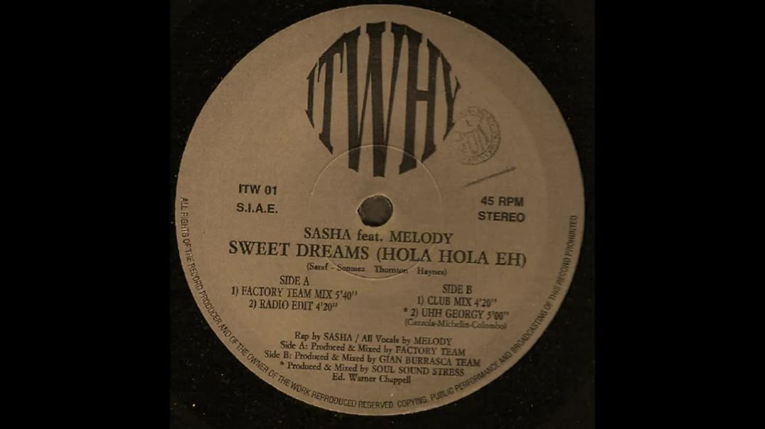 Sasha ft Melody - Sweet Dreams (Factory Team Mix)