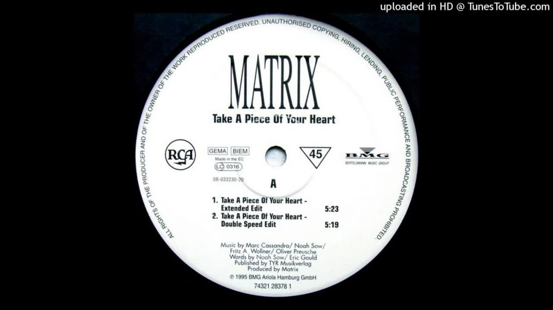 Matrix - Take A Piece Of Your Heart (Double Speed Edit)