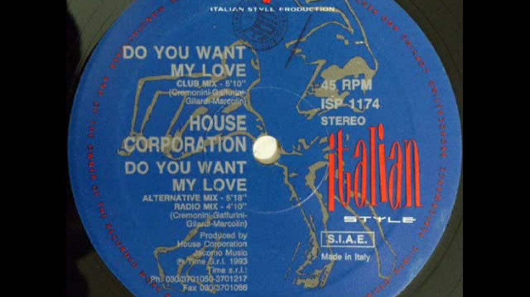 House Corporation - Do You Want My Love (Club Mix)
