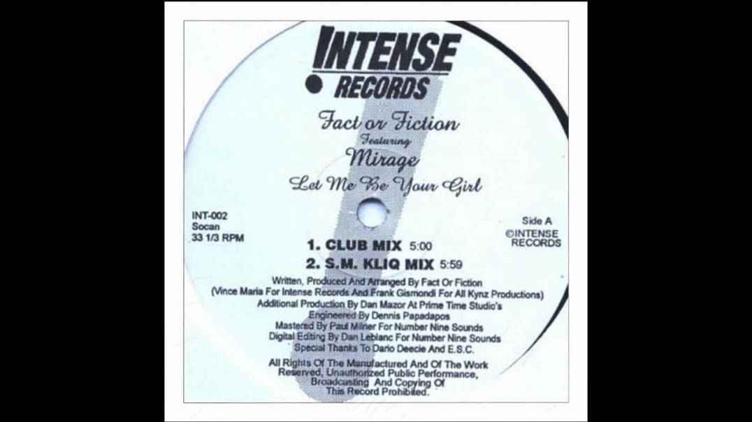 Fact Or Fiction ft Mirage - Let Me Be Your Girl (S.M. Kliq Mix)
