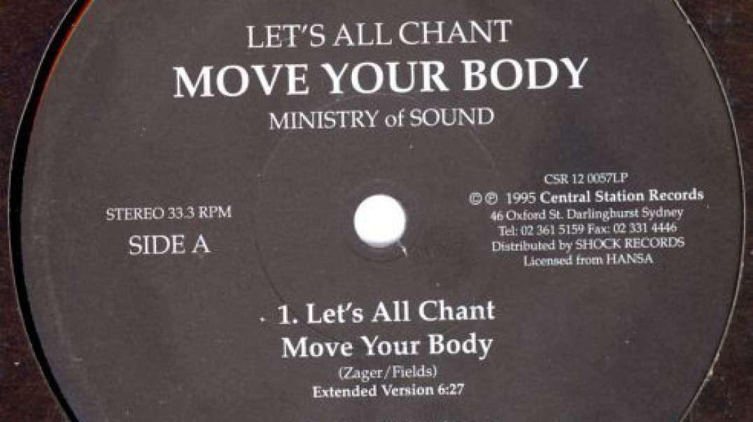 Ministry Of Sound - Let's All Chant (John Remix)