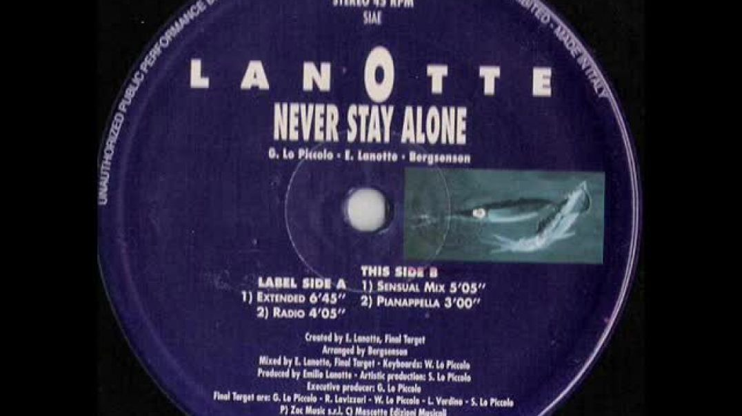 Lanotte ‎- Never Stay Alone (Extended)