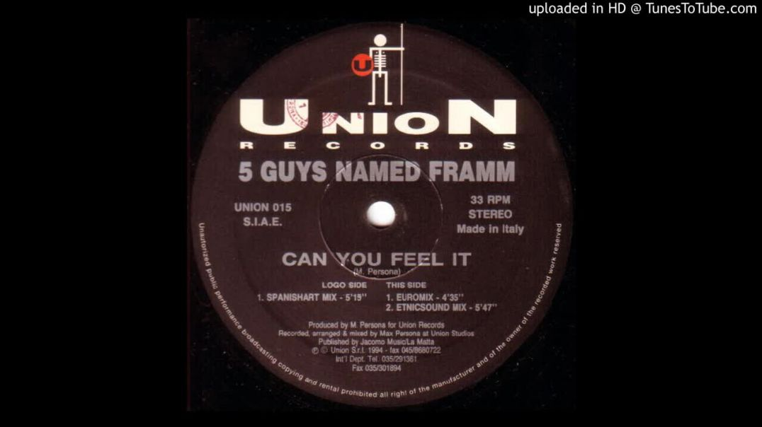5 Guys Named Framm - Can You Feel It (Euromix)