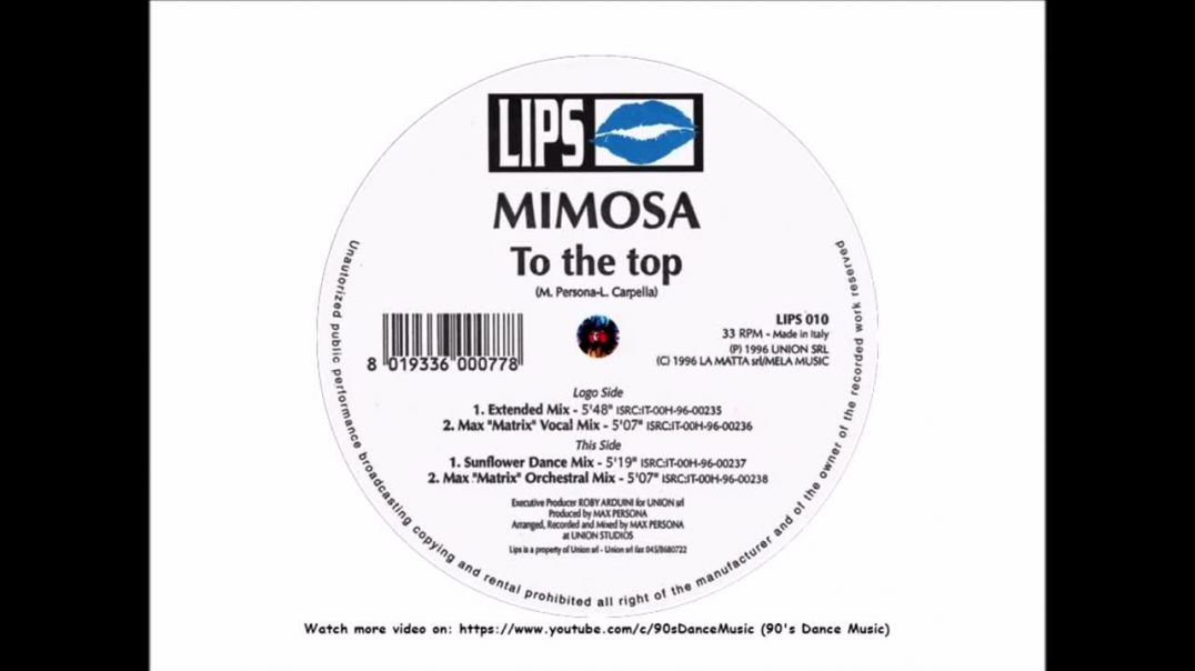 Mimosa - To The Top (Sunflower Dance Mix)