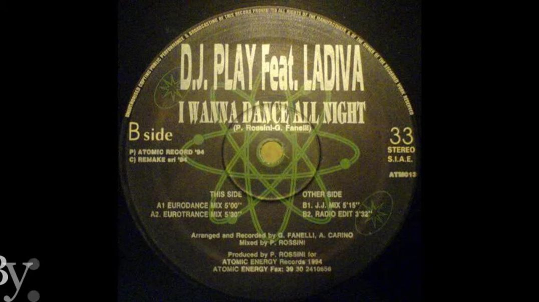 DJ Play ft Ladiva - I Wanna Dance All Night (J.J. Mix)