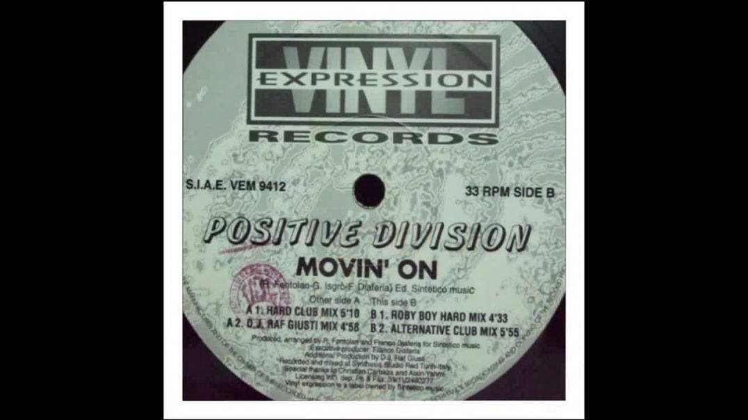 Positive Division - Movin On (Alternative Club Mix)