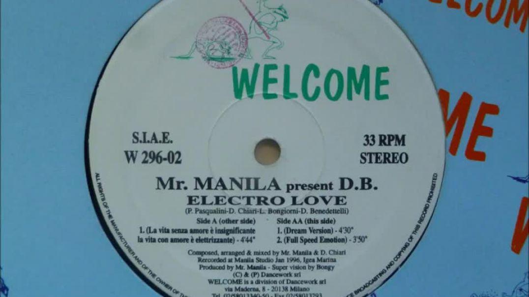 Mr. Manila present D.B. - Electro Love