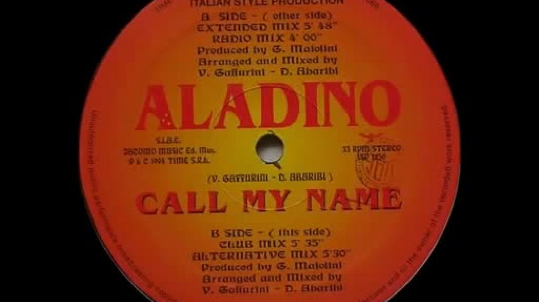 Aladino - Call My Name (Extended)