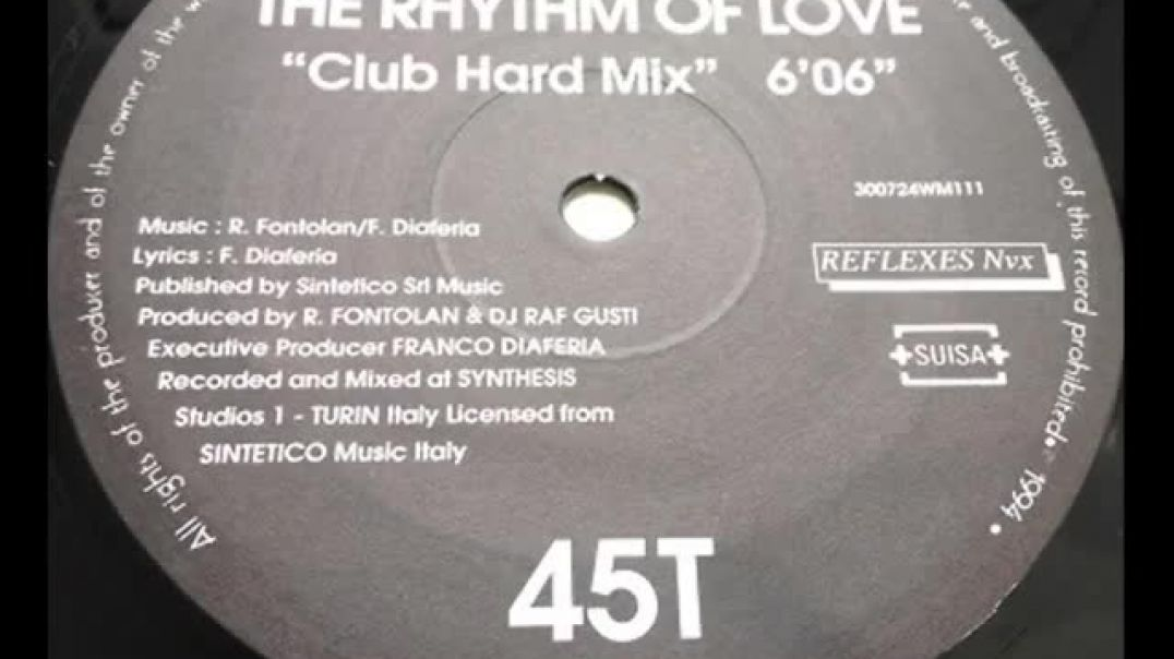 Karen B - The Rhythm Of Love (Club Hard Mix)
