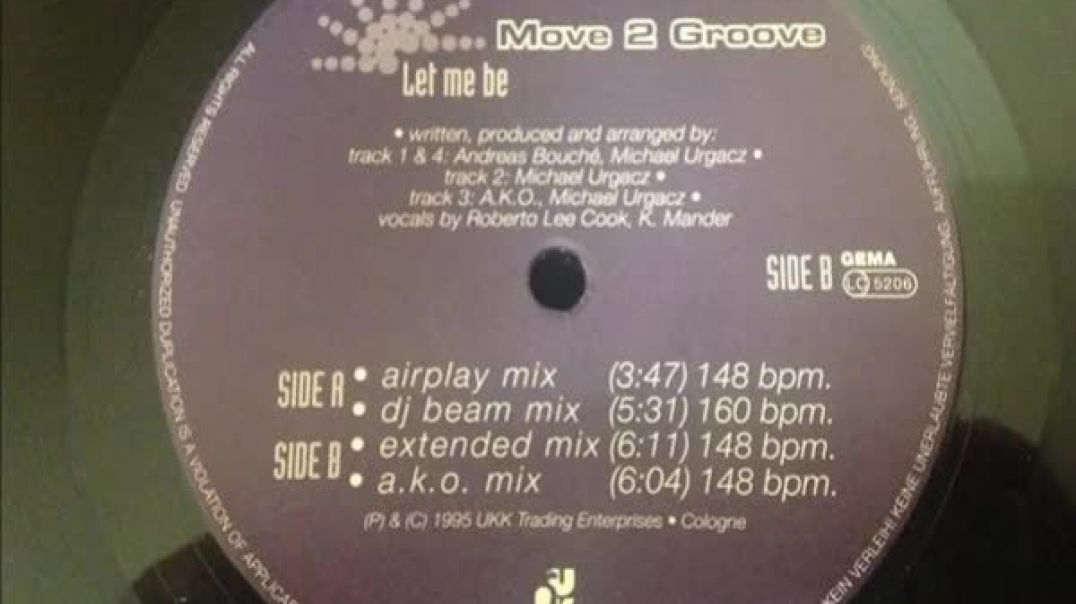 Move 2 Groove - Let Me Be (Extended Mix)