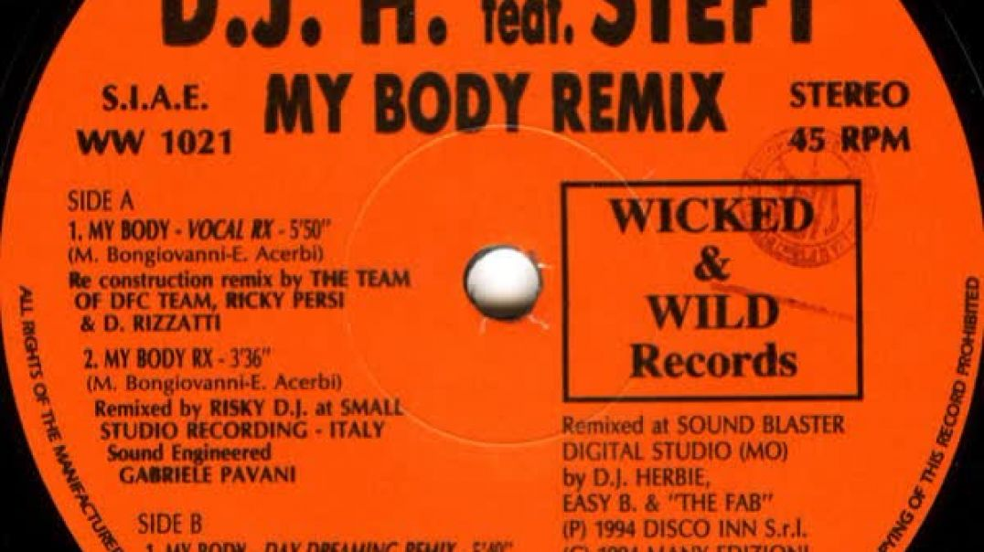 DJ H. ft Stefy - My Body (Vocal Remix)