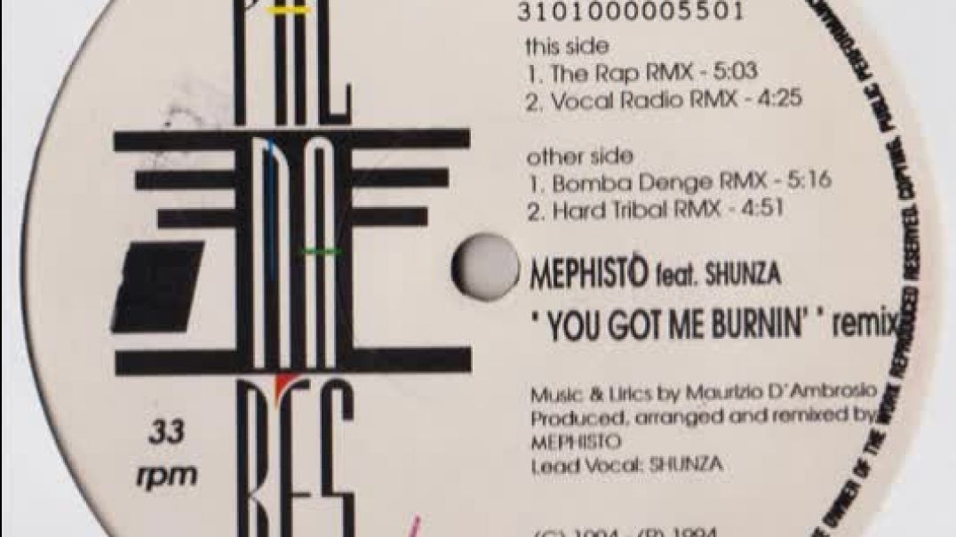 Mephisto ft Shunza - You Got Me Burnin' (Vocal Radio Remix)