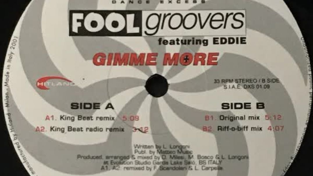 Fool Groovers - Gimme More (King Beat Mix)