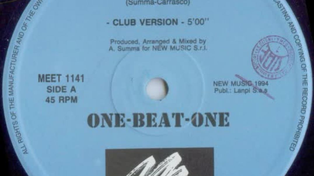 One-Beat-One - We Need (Club Version)