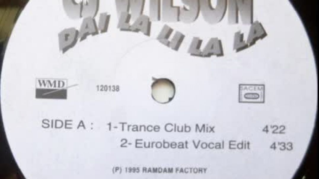 CJ Wilson - Dai La Li La La (Eurobeat Vocal Edit)