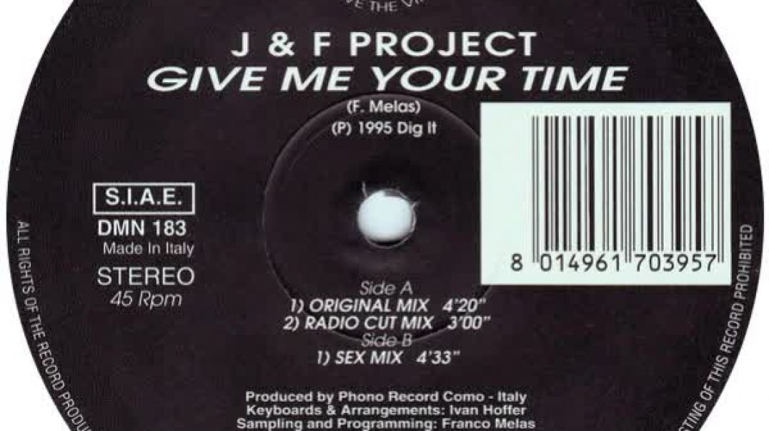 J & F Project - Give Me Your Time (Original Mix)