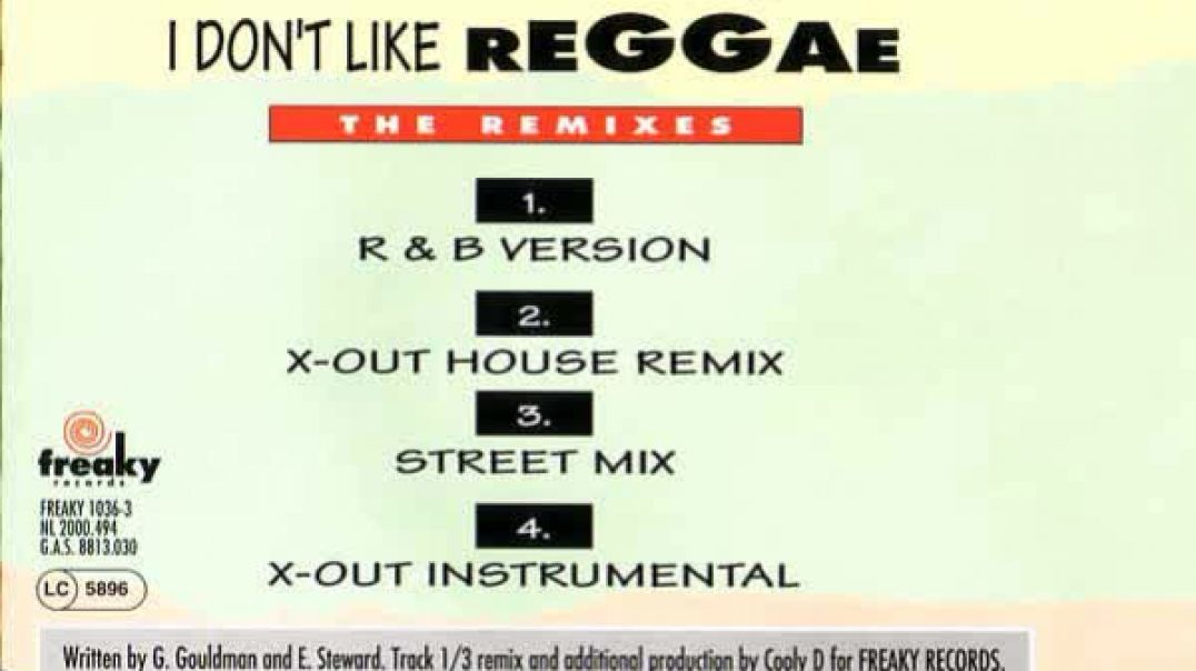 French Connection - I Don't Like Reggae (X-Out House Remix)