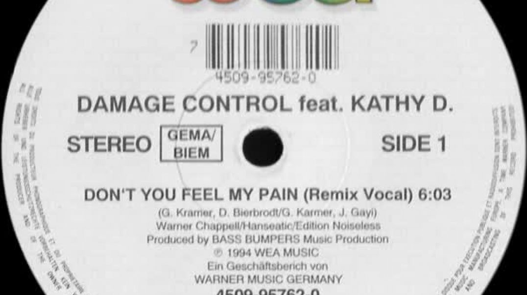 Damage Control ft Kathy D. - Don't You Feel My Pain (Remix Vocal)