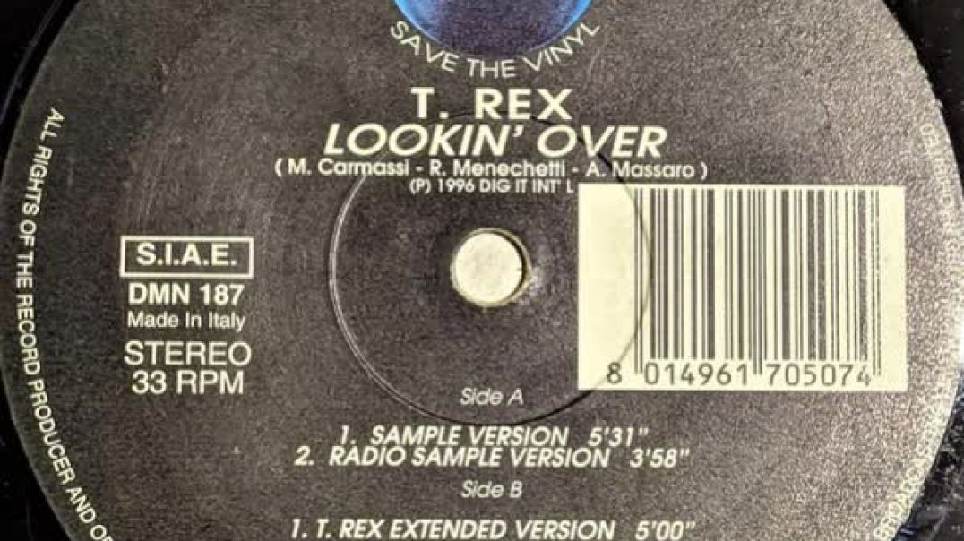 T. Rex - Lookin Over (T. Rex Extended)