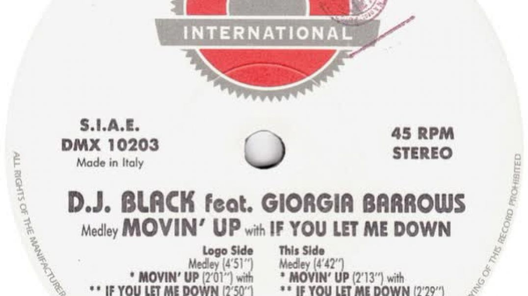 DJ. Black ft Giorgia Barrows - Medley Movin' Up With If You Let Me Down (Club Mix)